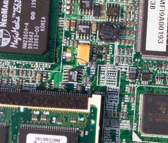 5、重新启动机器,由于我们已经对eeprom芯片进行了相应的处理,故系统提示按Fn+X键,自动进入工厂模式。然后按F1进入BIOS设置中,取消原来设置的密码。 在这里一定要注意:为安全起见,您不能在已设置主密码或管理员密码的情况下进行后续的设置、更改或删除物主标签。因此,你必须把主密码或管理员密码全部删除!然后保存BIOS并关机。